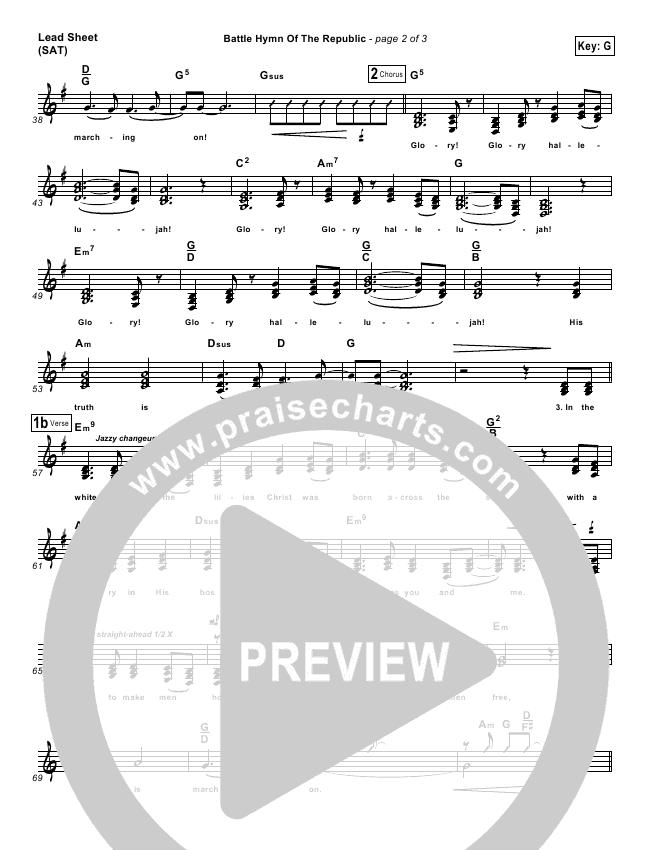 Battle Hymn Of The Republic Lead & Piano/Vocal (PraiseCharts Band)