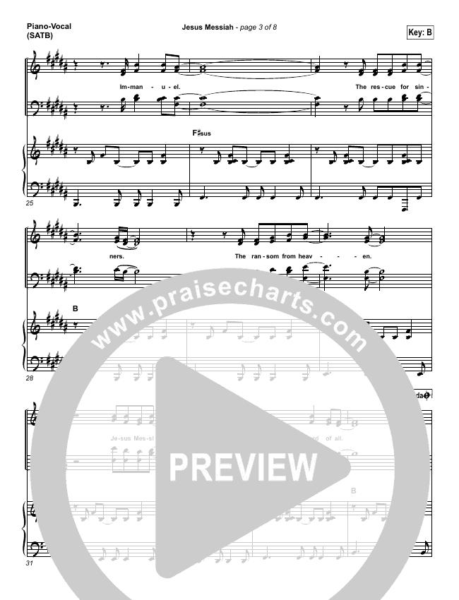 Jesus Messiah Piano/Vocal (SATB) (Chris Tomlin)