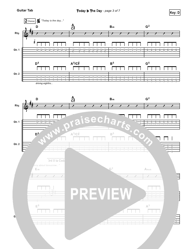 Today Is The Day Guitar Tab (Lincoln Brewster)