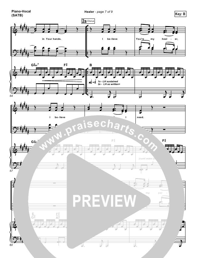Healer Lead Sheet Pianovocal Mike Guglielmucci Praisecharts