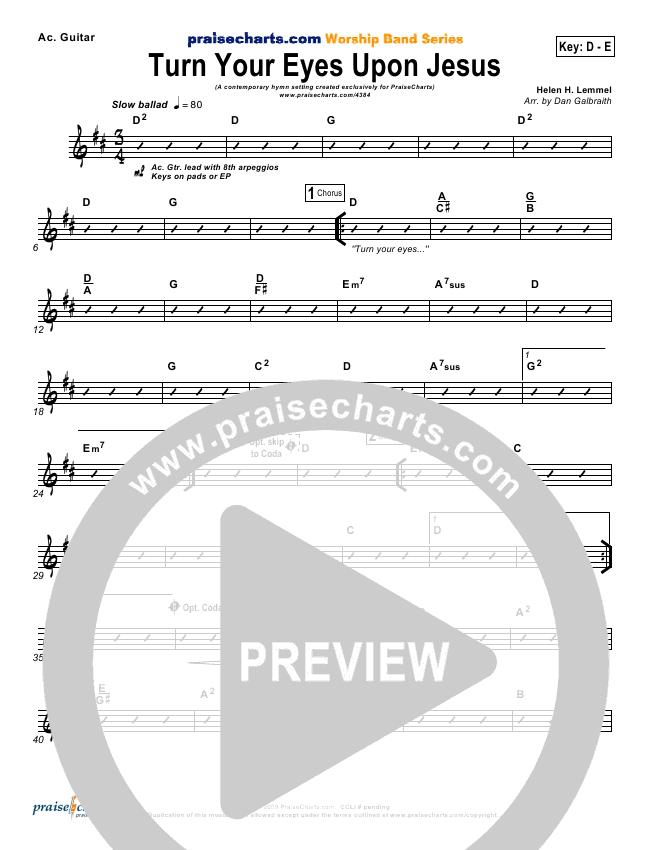 Turn Your Eyes Upon Jesus Rhythm Chart - PraiseCharts Band ...