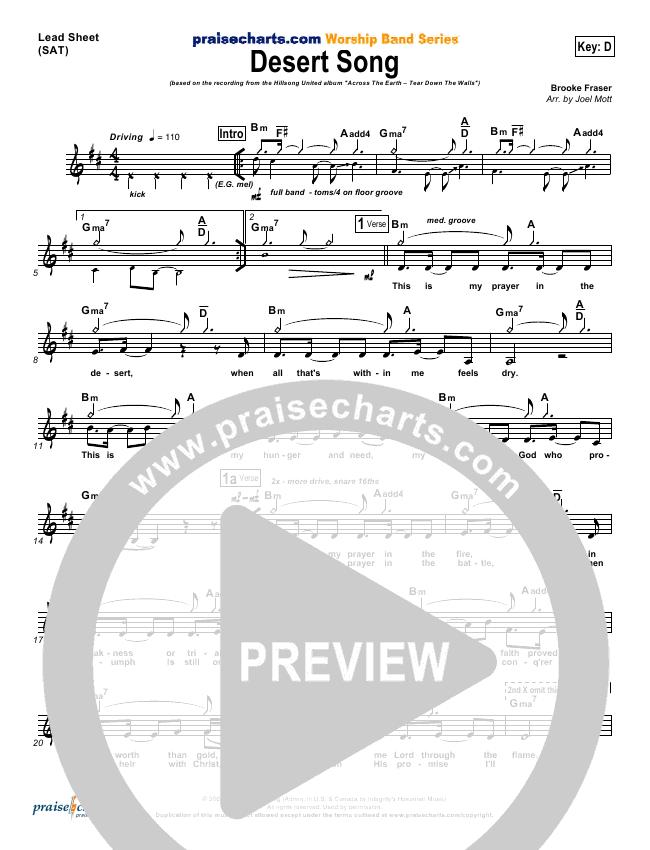Desert Song Orchestration Hillsong United Praisecharts