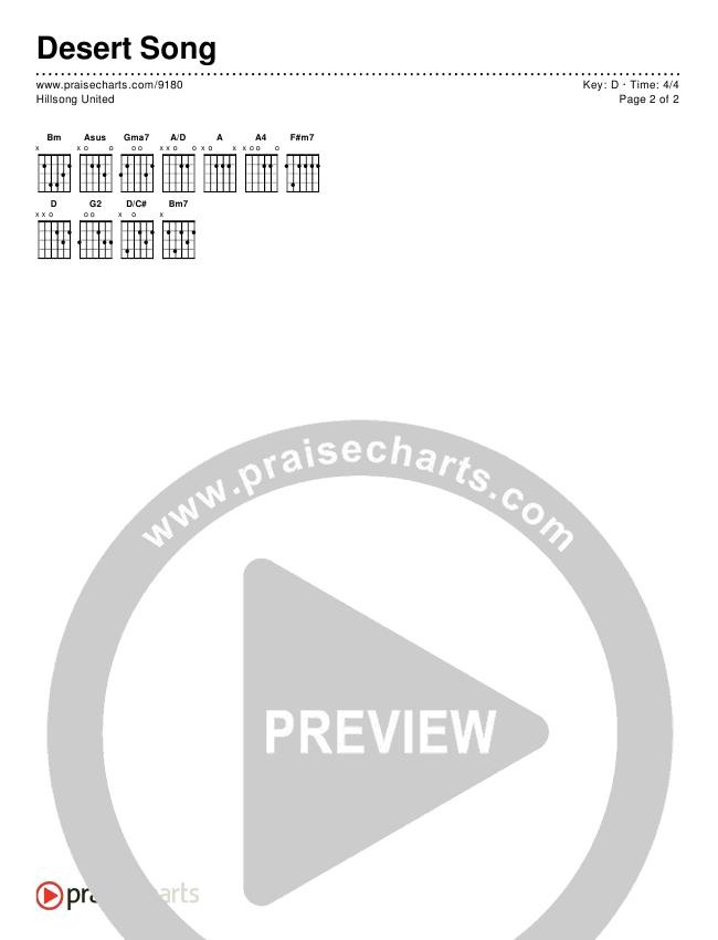 Desert Song Chords & Lyrics (Hillsong UNITED)