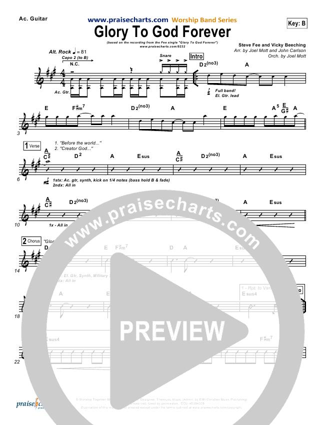 Glory To God Forever Rhythm Chart (FEE Band)