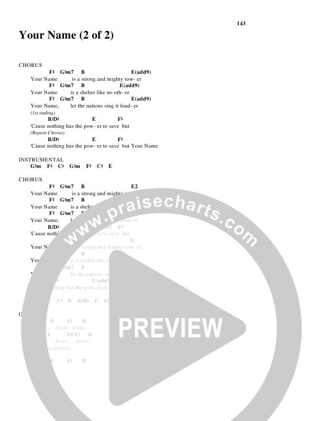 Your Name Chord Chart (Glenn Packiam)
