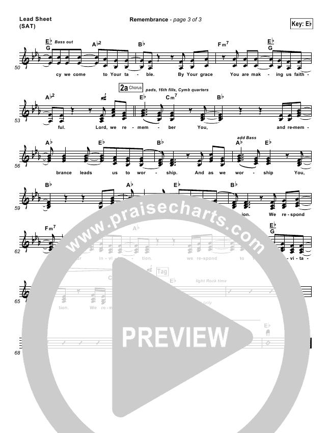 Remembrance Lead & Piano/Vocal (Matt Redman)