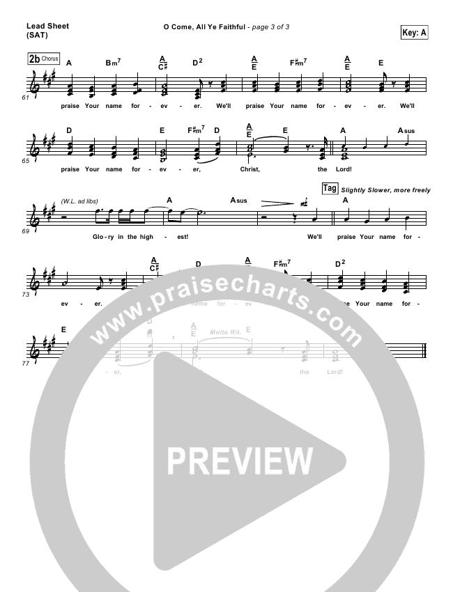 O Come All Ye Faithful Lead & Piano/Vocal (Chris Tomlin)