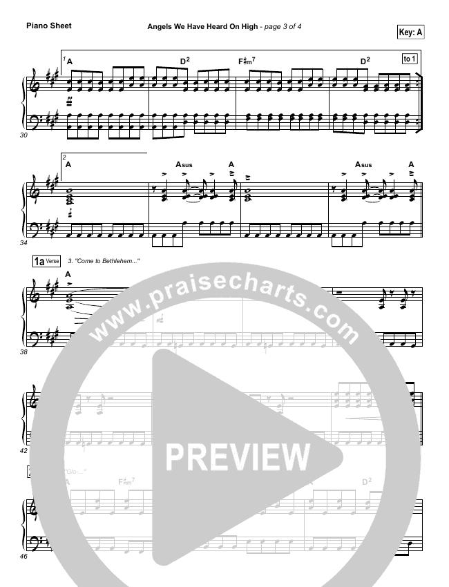 Angels We Have Heard On High Piano Sheet (Chris Tomlin)