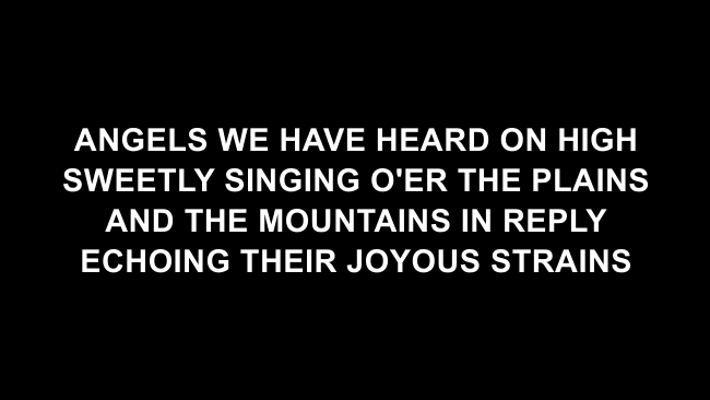 Angels We Have Heard On High Lyric Slides (Chris Tomlin)