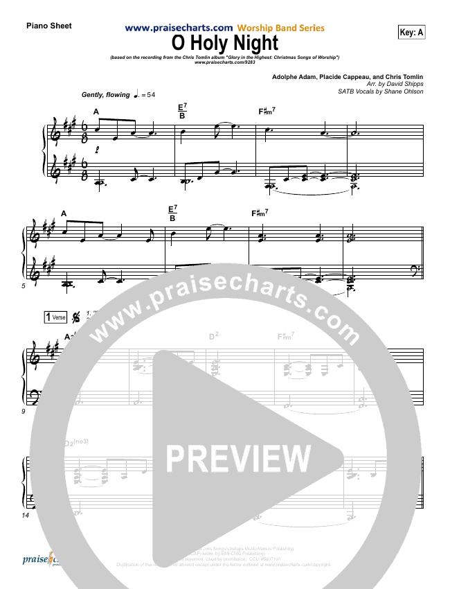 O Holy Night Piano Sheet (Chris Tomlin)