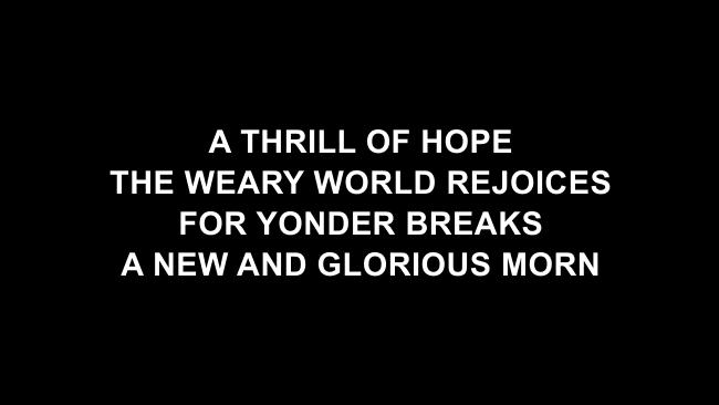O Holy Night Lyric Slides (Chris Tomlin)