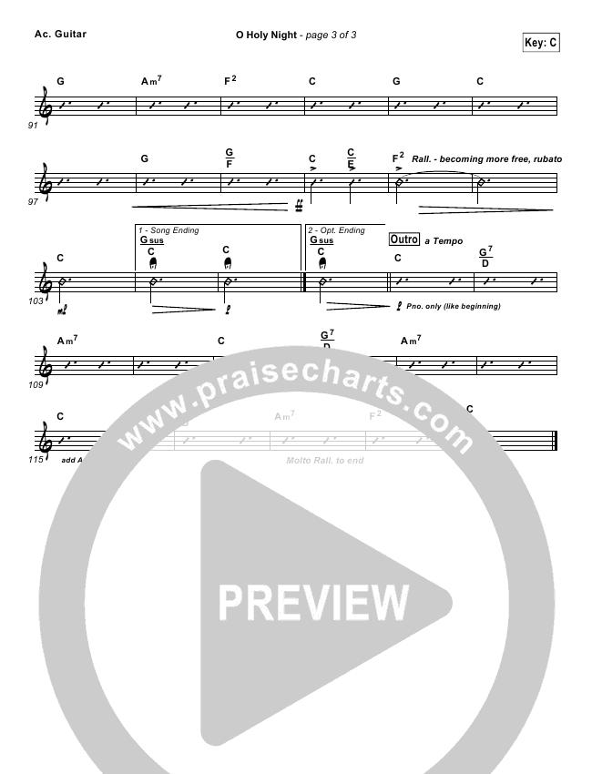 O Holy Night Rhythm Chart (Chris Tomlin)