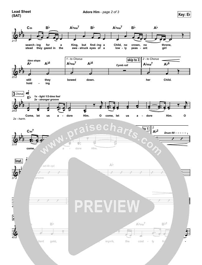 Adore Him Lead Sheet & Piano/Vocal - Kari Jobe | PraiseCharts
