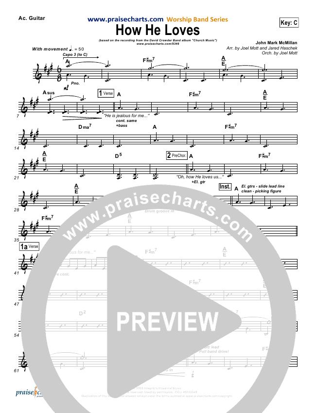 How He Loves Rhythm Chart (David Crowder)
