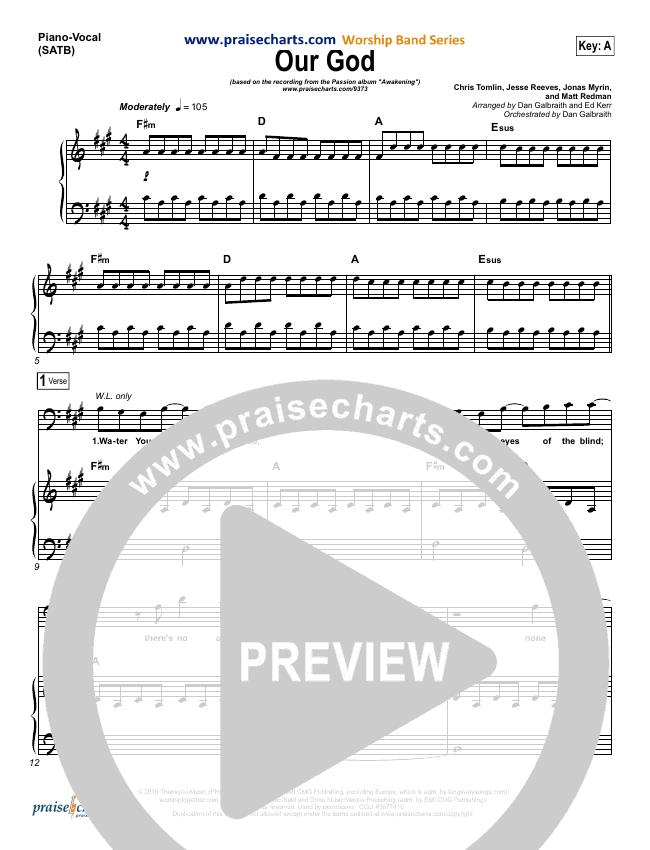 Our God  Piano/Vocal (SATB) (Chris Tomlin / Passion)