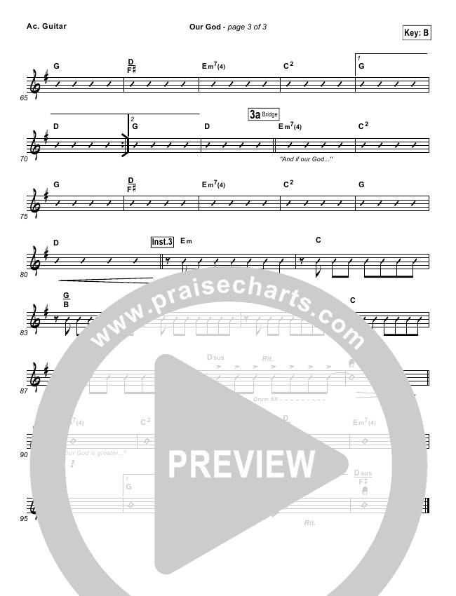 Our God  Rhythm Chart (Chris Tomlin / Passion)