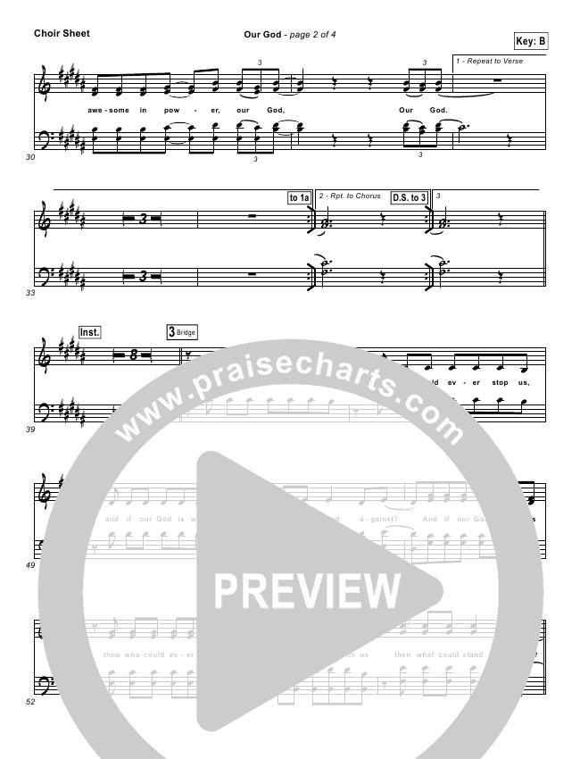 Our God  Choir Sheet (SATB) (Chris Tomlin / Passion)