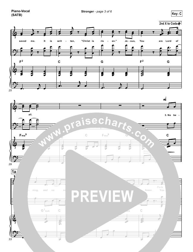 Stronger Lead Sheet & Piano/Vocal - Hillsong Worship | PraiseCharts