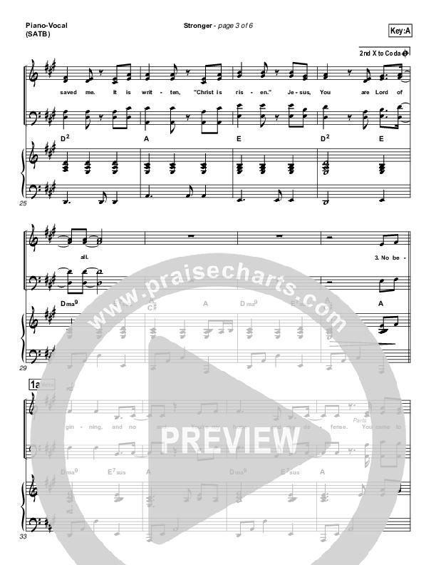 Stronger Piano/Vocal (SATB) (Hillsong Worship)